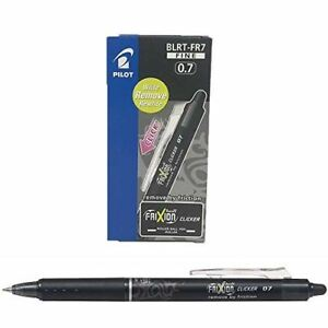 Pilot Frixion Click Retractable Erasable Rollerball Pen Black Fine Pack Of 12