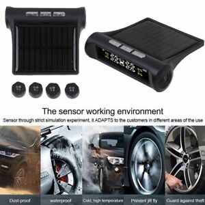Wireless Solar Car Tire Pressure Monitoring System Diy Tpms With 4 Sensors Us