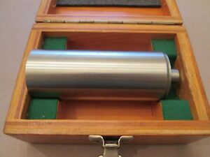 Magnetic Cylinder Square Tru craft Tool 2 Dia X 5 Wooden Case Very Nice