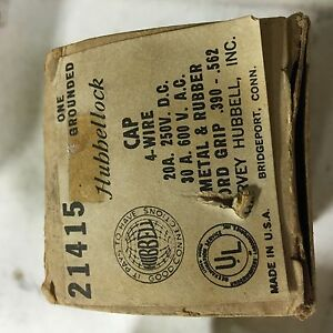 Hubbell 21415a 30 Amp 600 Volt Ac 4 Wire Hubbellock Plug New