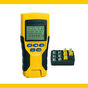Klein Tools Vdv Cable Scout Pro 2 Tester Kit Vdv501 Remote Voice Data Video Tool