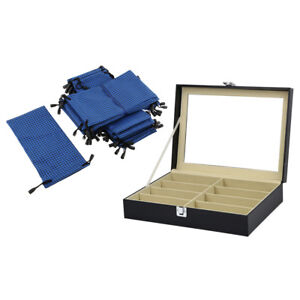 Retail Stores Sunglasses Eyeglasses Glasses Display Case Box With 20 Bags