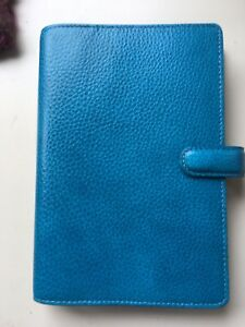 Filofax Finsbury Personal Turquoise Very Good Condition Free Shipping