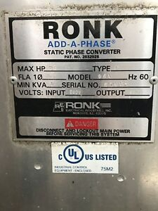 Ronk Static Phase Converter Pat No 2832925 Single Phase To Three Phase