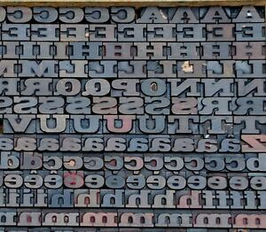 387 Letterpress Wood Printing Blocks 0 87 Tall Printers Alphabet Type Font Abc