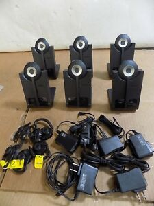 Lot Of 6 Jabra Bluetooth Wireless Headset Nfc Whb005bs u Office Or Home