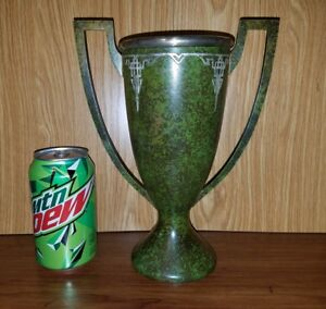 Beautiful Antique Heintz Sterling On Bronze Trophy Cup W Must See Patina