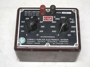 Cornell dubilier Decade Capacitor Box Model Cda Vintage Industrial Surplus Good