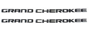 2x Grand Cherokee Altitude Emblems 3d Letter Abs Nameplate Srt For Jeep Black