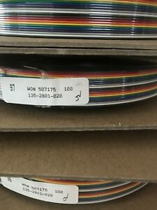 Amphenol Spectra strip 135 2801 020 28awg 20 Conductor Flat Cable 100ft Spool