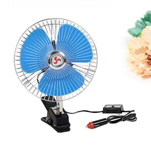 8 Inch 12v Vehicle Oscillating Fan Dashboard Clip On Cooling Fan For Buses Boats