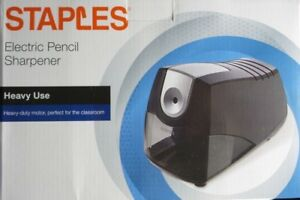 Electric Pencil Sharpener Staples Power Extreme Heavy duty Black