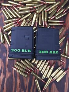 300 AAC BLK Magazine ID Marking Band 4 Pack Free Shipping 300 Blackout
