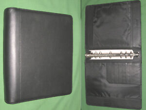Monarch 1 25 Black Leather Franklin Covey Planner 8 5x11 Open Binder 6064