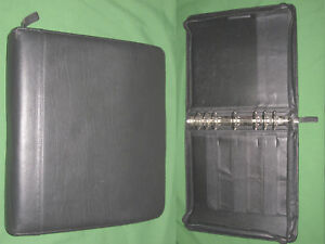 Monarch 1 75 Black Top Grain Leather Franklin Covey Quest Planner Binder