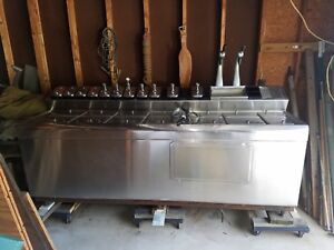 Vtg Stainless Steel All Dry Soda Fountain S Bastian Blessing Company Ice Cream