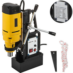 1350w Md 25 Magnetic Base Drill Press 25mm Boring 15000n Magnet Force Tapping