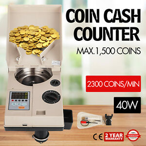 Automatic Coin Sorter Electronic Coin Counting Machine 110v Bank Fast Wholesale