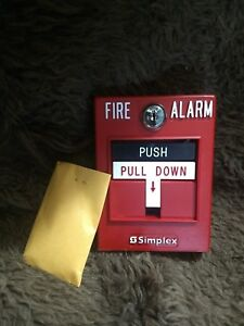 Simplex Pull Station Fire Alarm 4099 9003 P n 0630697 Idnet Push New In Box Nib