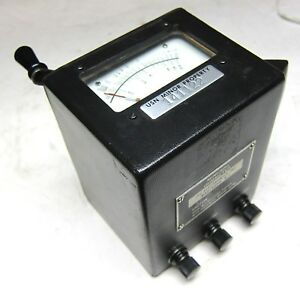 J f c Electronics Ohmmeter Mini 500 Vintage Industrial Surplus Good