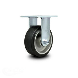Scc 5 Rubber On Aluminum Wheel Rigid Caster 500 Lbs caster