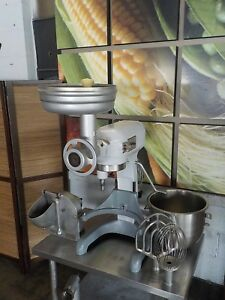 Hobart A 200t 20 Qt Mixer Grinder Pelican Head Whip Paddle Bowl Included