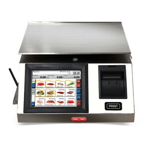 Torrey Wls20 40 Touchscreen Label Printing Scale 20 Kg 40 Lb Capacity 10k Plu s