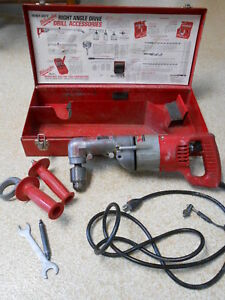 Milwaukee Heavy Duty Right Angle 1 2 Drill 1001 1 Works Tested