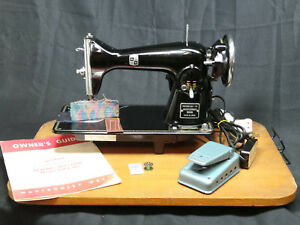 Montgomery Ward Heavy duty Sewing Machine Leather Upholstery Denim Serviced