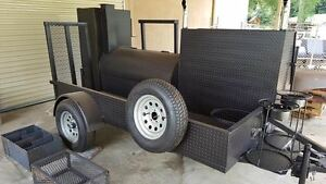 Start A Catering Business Bbq Kitchen Smoker Grill Trailer Food Charcoal Basket