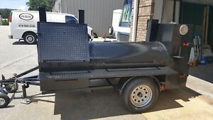 Fits In Your Garage Bbq Smoker Grill Trailer Food Cart Truck Concession Business