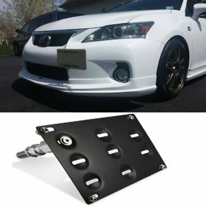 Front Bumper Tow Hook License Plate Mount Bracket For Lexus Is250