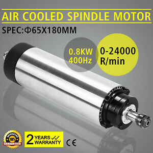 800w Cnc Air Cooled Spindle Motor Er11 Pwm Speed Controller Mount Engraving Ce