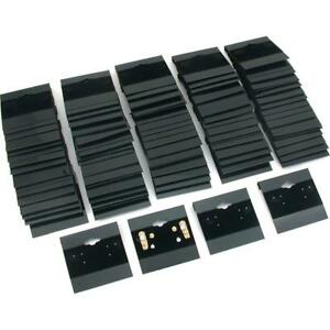 1 X Earring Display Hang Cards Black Flocked 2 X 2 Inch 100