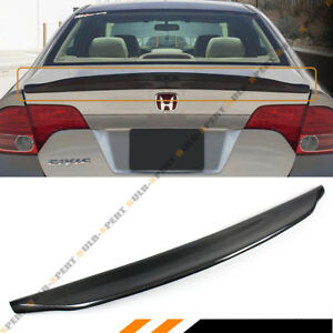 For 06 11 Honda Civic 4dr Sedan 8th Gen Carbon Fiber Duckbill Trunk Lid Spoiler