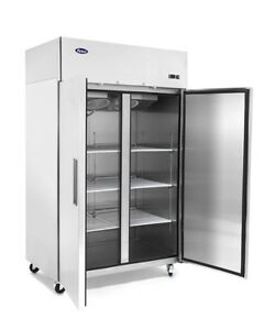 Atosa Double 2 Solid Door Stainless Steel Commercial Restaurant Upright Freezer