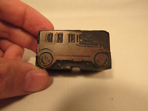 Antique Copper Wood Advertising Print Block 1930 s Sedan
