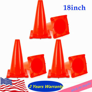 6x 18 Durable Safety Cones For Construction traffic sports Training soccer