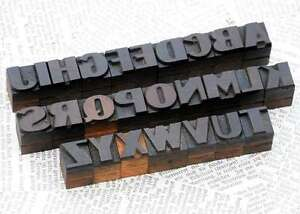 A z Alphabet 0 71 Letterpress Wooden Printing Blocks Wood Type Print Characters