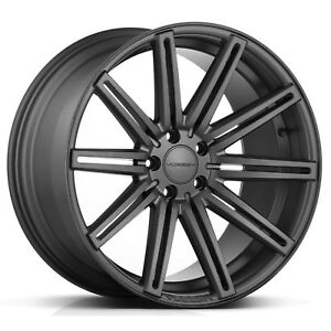 New Vossen Cv4 5x120 Matte Graphite 22x9 Et 15 Cb 72 56 set Of 4