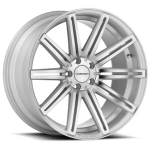 New Vossen Cv4 5x115 Silver 22x9 Et15 With 71 6 Cb Set Of 4