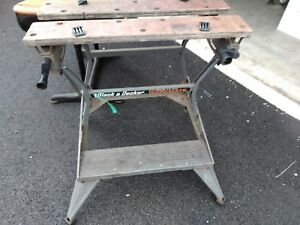 Vintage Black & Decker Workmate Portable Work Table Folding Bench.