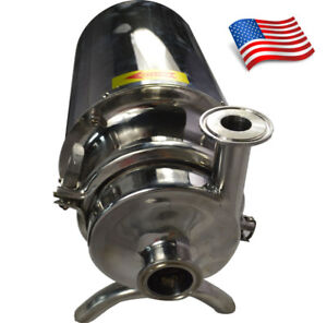 New 110v 304 Ss Lfood Grade Centrifugal Pump Sanitary Beverage 3t h Usa Stock