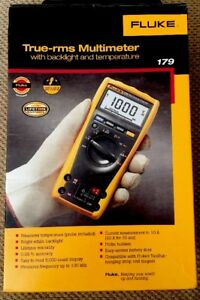 Fluke 179 True Rms Digital Multimeter With Temperature Brand New Original Box