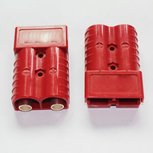 Pair Battery Quick Connector Kit 350a 2 0 Awg Plug Connect Disconnect Red