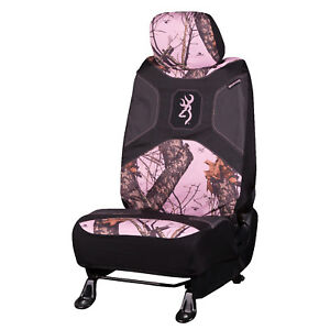 Browning Camo Seat Cover Low Back Break Up Pink Single