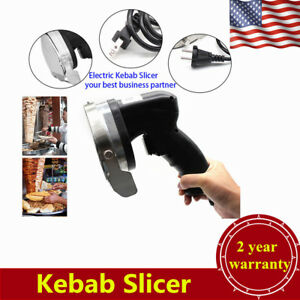 Electric Shawarma Doner Meat Knife Kebab Slicer Gyros Carver Gyro Cutter 80w Usa