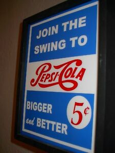 Pepsi Cola Swing Soda Fountain Diner Bar Advertising Mancave Lighted Sign