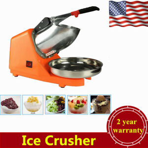 Commercial Ice Shaver Electric Snow Cone Maker Crusher Machine 143lbs 2200r min
