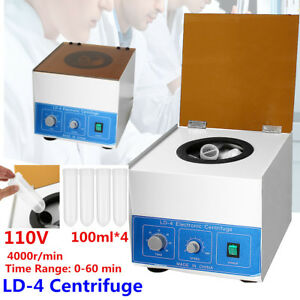 Ld 4 110v Electric Centrifuge 4000r min Medical Practice Lab 4 100ml Low Noise
